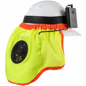 ZippKool HVC-03L High-Visibility Hard Hat Cooler Attachment with Mini Rechargeable Lithium-Ion Battery - High-Viz Yellow