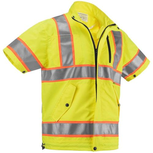 ZippKool HVN-510U 100% Polyester ANSI Class 3 High-Visibility Short Sleeve Cooling Vest Set with Rechargeable Lithium-Ion Battery