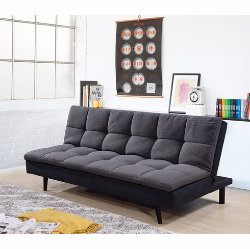 2 Tone Dark Gray Futon Sofa Bed