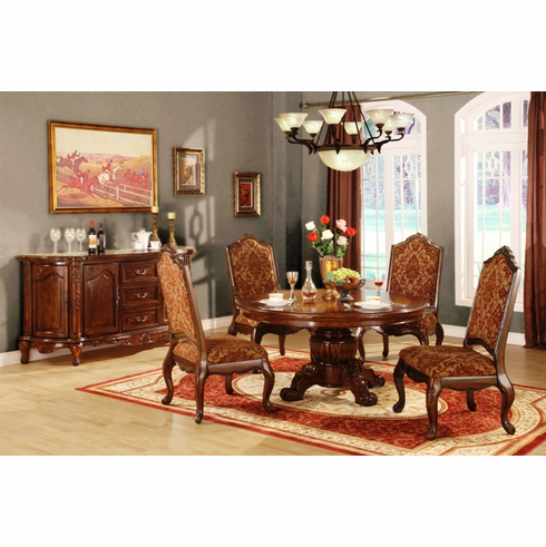 5PCS ROUND TABLE DINETTE SET