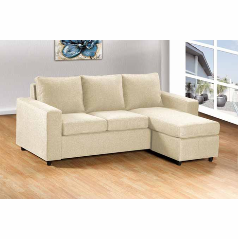 BEIGE SECTIONAL SOFA 2PC/ SET