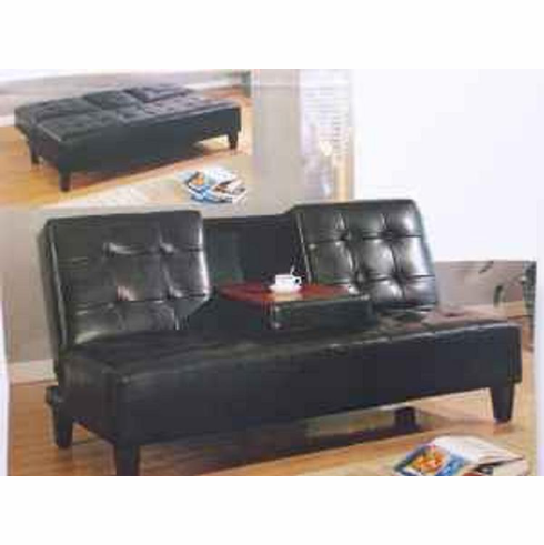 *Black Click-Clack sofa bed with cup holder