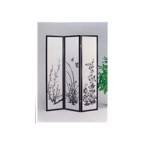 black divider with butterfly design