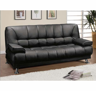 Black Futon Sofa With Arms