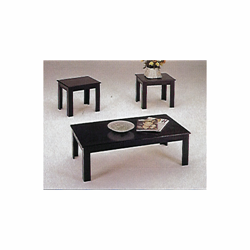 black parquet coffee & end table set