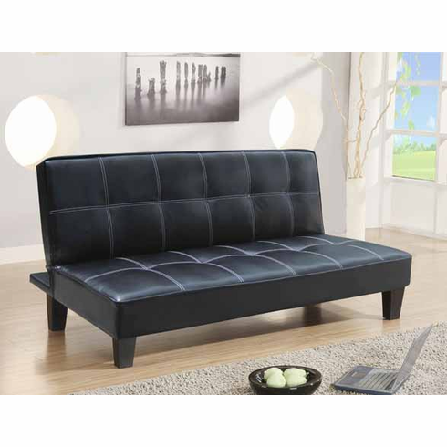 *BLACK PU FUTON SOFA BED