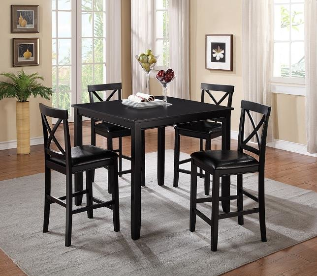 Astonishing Black Pub Table With 4 Pud Chairs Onthecornerstone Fun Painted Chair Ideas Images Onthecornerstoneorg