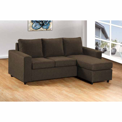 BROWN SECTIONAL 2PC/SET
