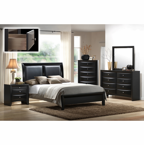 Cal King bedroom set includes dresser, mirror and  one night stand