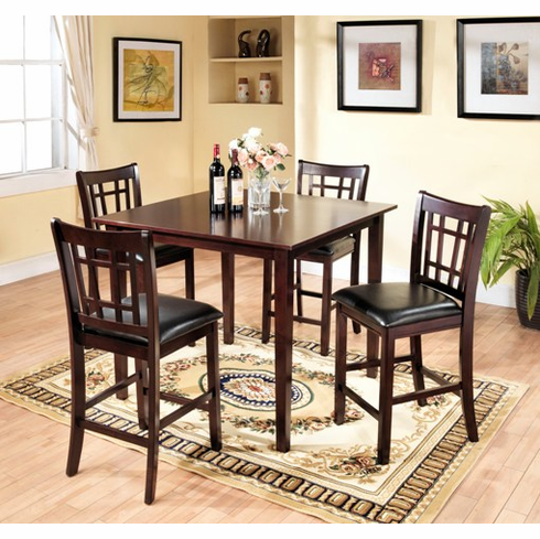 Cappuccino 5pcs Pub Table set