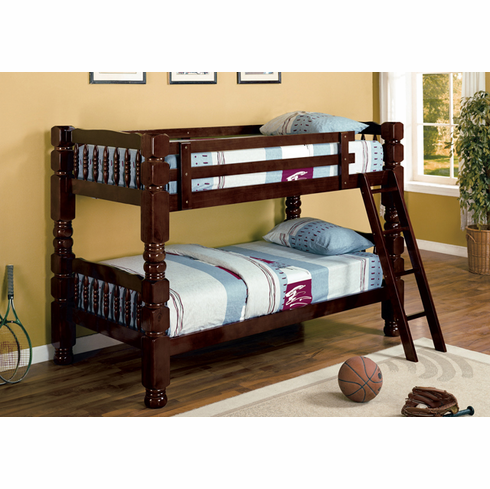 *CAPPUCCINO HEAVY DUTY BUNK BED DIVISIBLE TO BEDS