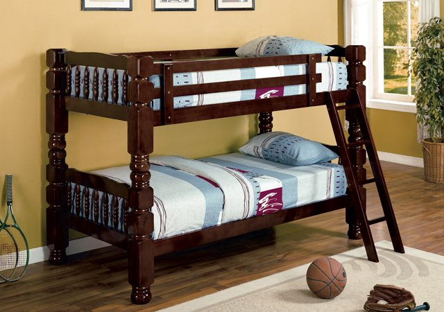 Cappuccino Heavy Duty Bunk Bed Divisible To Beds