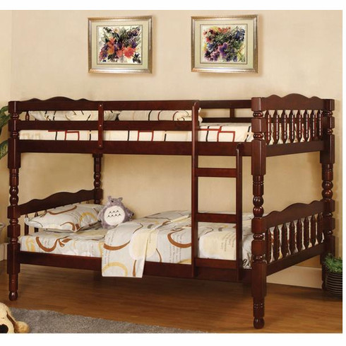 *Cappuccino twin over twin bunk bed convertible to 2 beds