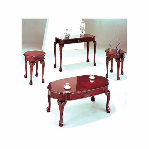 Cherry Queen Ann coffee and end table with Claw feet