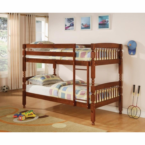 *Cherry twin over twin bunk bed convertible to 2 beds