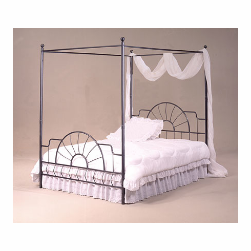 Complete QUEEN canopy with rail  & Queen Mattress set