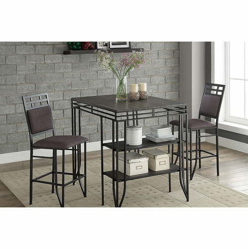 Counter Height Table with 2 Pub Chairs (3pcs)