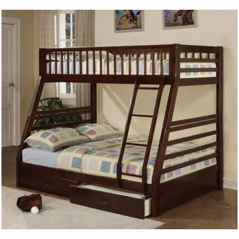 *Espresso bunk bed with 2 drawers