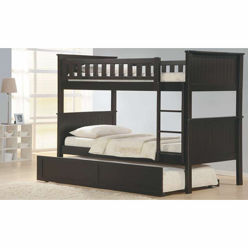 *Espresso bunk bed with trundle