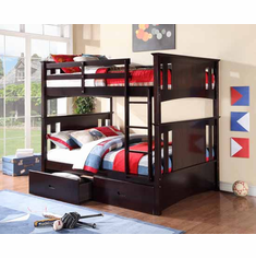 *ESPRESSO FULL/ FULL BUNK BED AVAILABLE WITH 2 DRAWERS