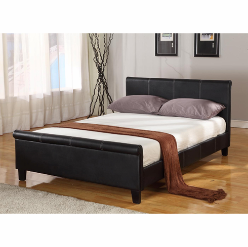 Faux Twin size and sleight Leather Platform bed
