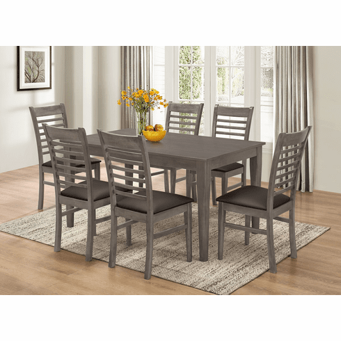 GREY DINETTE SET WITH 6 CHAIRS