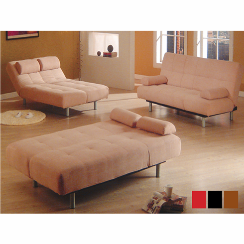 *KLIK KLAK LOUNGE SOFA BED IN LIGHT BROWN OR BLACK