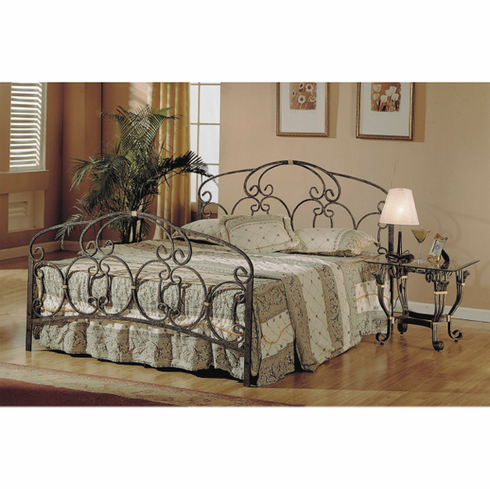 Metallic blossoming style bed in Queen size