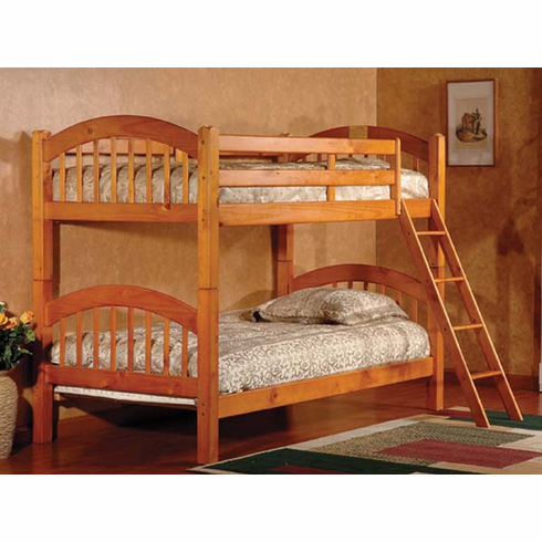 *Oak  bunk bed convertible to 2 beds