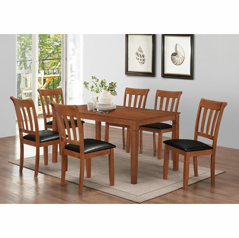 Oak Dinette set with 6 Chairs