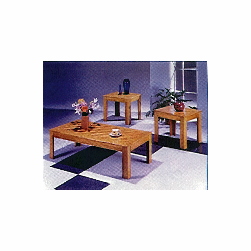 Oak parquet table set