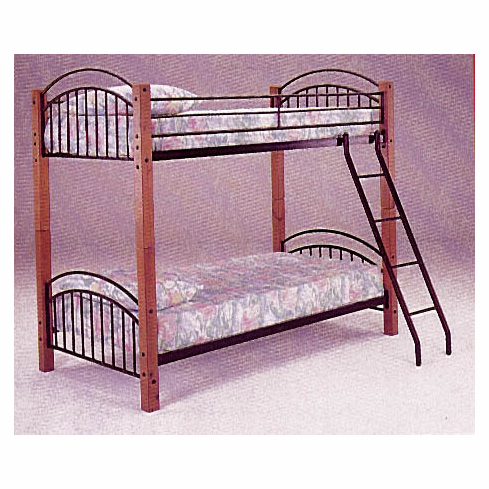 *Oak Twin/Twin Bunkbed That Can Separate To Two Beds