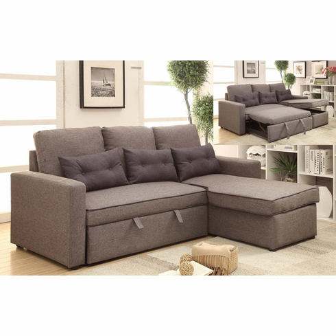 PULL OUT SOFA BED WITH ONE ARM