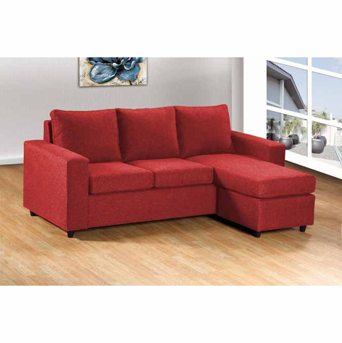RED SECTIONAL 2PC/SET