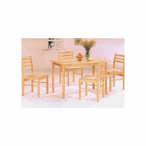solid wooden table with four chairs