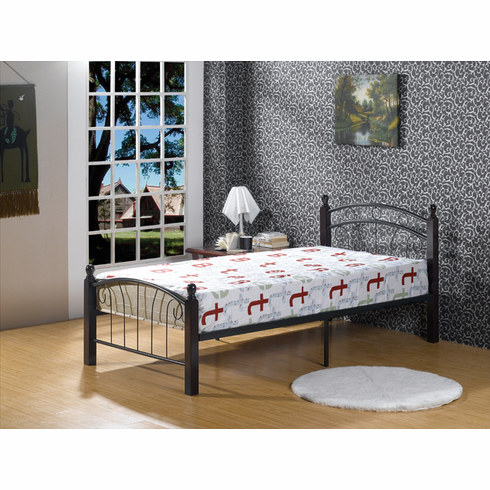 Twin size Wood & metal platform bed