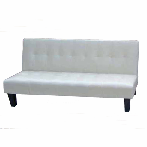 White Pu Adjustable Futon Sofa Bed