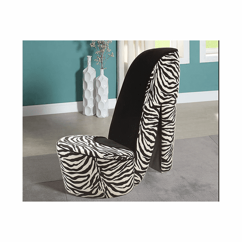 ZEBRA/ BLACK SHOE CHAIR