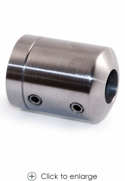12mm in-line Round Bar Holder for Square Newel or Wall