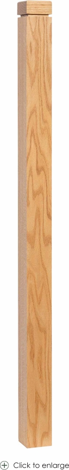 """3-1/2"""" Newel Post with Square Cap"""