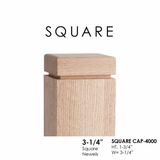 "Square CAP-4000 for 3-1/4"" Newels"