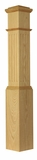4092 Fluted Box Newel 7-1/2 inch with Pyramid Cap