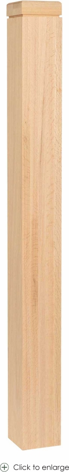 5-1/2 inch Contemporary Newel with Square Cap