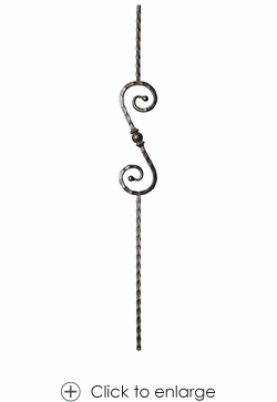 Hollow Tuscan Sphere Scroll Baluster