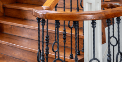 Stair Parts Iron Baers Newel Posts Treads