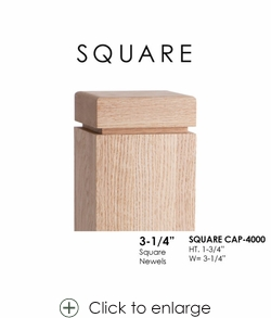 """Square CAP-4000 for 3-1/4"""" Newels"""