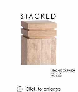 """Stacked CAP-4000 for 3-1/4"""" Newels"""