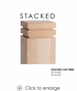 """Stacked CAP-5000 for 5-1/2"""" Newels"""