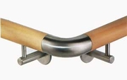 Stainless 90� Curved Elbow for Wood Handrail