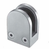 Stainless Rounded Glass Clamp for Flat Surface - 1/2 inch Glass
